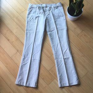 Abercrombie and Fitch khaki boot leg trouser slack